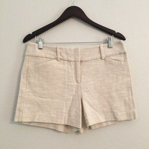 Ann Taylor Cream Trouser Dress signature Shorts 8